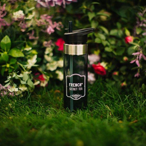 Спортна бутилка с вградена сламка French Secret Tea